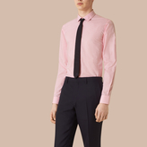 Burberry Slim Fit Gingham Cotton Poplin Shirt , Size: 15.5, Pink