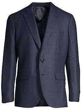 Larusmiani Men's Single-Breasted Wool-Blend Blazer