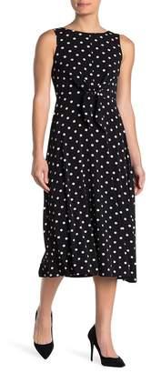 Eliza J Polka Dot Midi Dress
