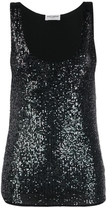 Saint Laurent Sequinned Tank Top