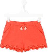 Chloé Kids - embroidered shorts - kids - Cotton/Spandex/Elastane - 14 yrs