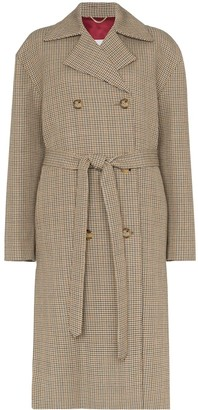 Magda Butrym Hammond check belted coat