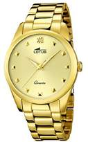 Lotus Women's Quartz Watch with Gold Dial Analogue Display and Stainless Steel Gold Plated Bracelet 18143/2