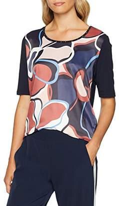 Gerry Weber Women's T-Shirt 1/2 Arm T-Shirt, Multicolour (Indigo/Zimt Bleu Druc 8121), (Manufacturer Size: 42)