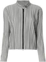 Pleats Please Issey Miyake checked plissé jacket
