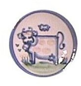Hadley Pottery Coaster, Cow Pattern
