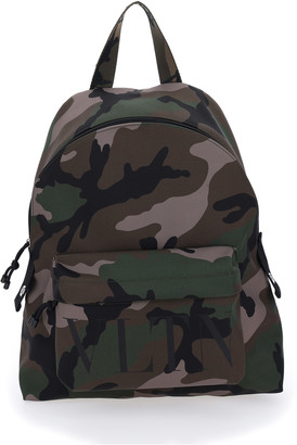 Valentino Camouflage Nylon Backpack