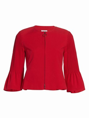 Akris Punto Pintuck Bell-Sleeve Cropped Jacket