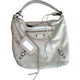 Balenciaga Beige Leather Handbag Day