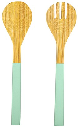 Alex Liddy Breeze Bamboo Salad Servers Mint Green