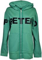 N°21 Pretend Hooded Jacket From Green Pretend Hooded Jacket With Front Zip Fastening, Front Print Design, Long Sleeves And A Side Zip Slit Hem.
