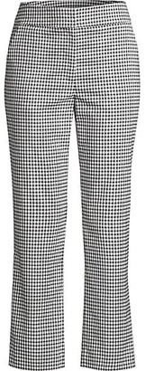 Donna Karan Gingham Kick Flare Pants