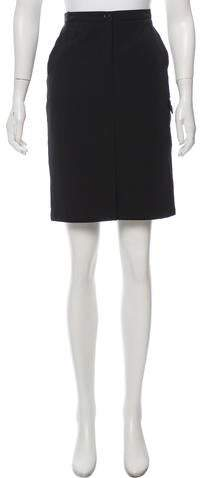Prada Sport Vented Knee-Length Skirt