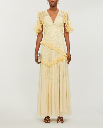 Needle And Thread Needle & Thread x Jasmine Hemsley Earth Garden floral-embroidered recycled tulle gown