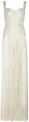 Maria Lucia Hohan Cara Ivory Lace-up Silk Gown