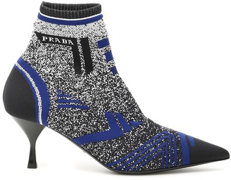 Prada Multicolor Knit Booties