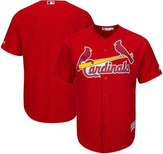 Majestic Men's Red St. Louis Cardinals Big & Tall Alternate Cool Base Team Jersey