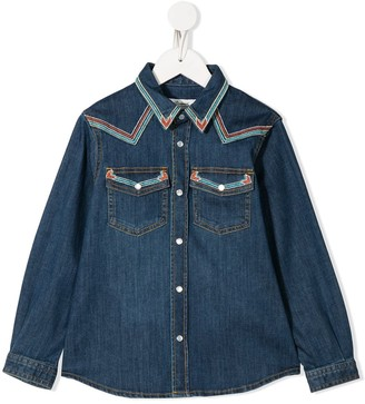 Bonpoint Embroidered Denim Shirt