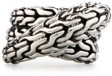 John Hardy Classic Chain Silver Overlap Ring, Size 7
