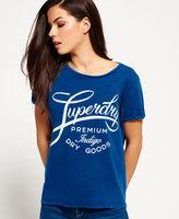 Superdry Indigo Script Boyfriend T-shirt