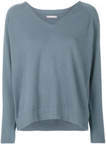 Hemisphere v-neck jumper