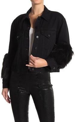 Alice + Olivia Faux Fur Sleeve Jacket