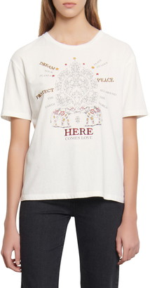 Sandro Here Comes Love Graphic Tee