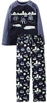 Fat Face Children's Walrus Jersey Pyjamas, Blue