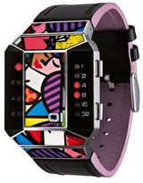 01 The One 01TheOne Unisex SC123R1 Split Screen Romero Britto Art Pink Watch