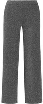Missoni Cropped Metallic Knitted Straight-leg Pants - Silver