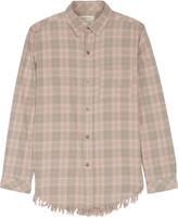 Current/Elliott The Prep School frayed cotton-blend shirt