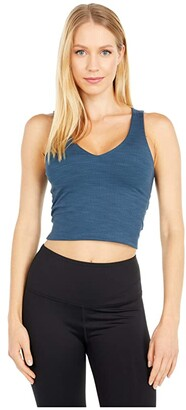 Beyond Yoga Go to Cropped Tank (Blue Horizon Heather) Women's Clothing