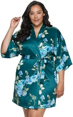 Apt. 9 Plus Size Satin Wrap Robe