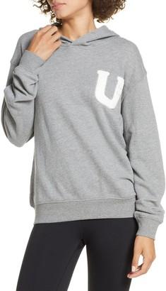 UGG Fuzzy Logo Pullover Hoodie Sweatshirt