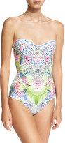 Camilla Bandeau Embellished One-Piece Swimsuit