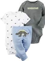 Carter's Boy Clothes 3 Pc Bodysuit Shirt Pants Set Dinosuar