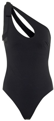 Zimmermann Empire Teardrop one-shoulder swimsuit
