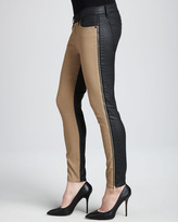 7 For All Mankind Two-Tone Skinny Jeans