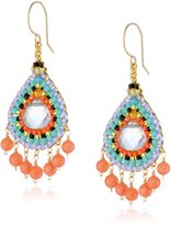 Miguel Ases Pink and color Dangle Earrings