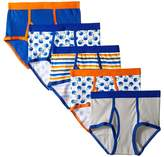 Trimfit - Football Cotton Briefs 5-Pack Boy's Underwear