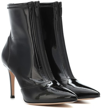 Gianvito Rossi Welch 85 vinyl ankle boots