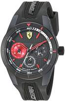 Ferrari Men's 'RedRevT' Quartz Stainless Steel and Rubber Casual Watch, Color:Grey (Model: 830439)