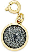 INC International Concepts Gold-Tone Black Druzy Crystal Charm, Created for Macy's