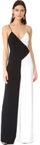 Cushnie et Ochs Two Tone Wide Leg Jumpsuit