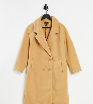 Threadbare Petite sophie tan overcoat