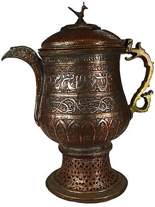 One Kings Lane Vintage Antique Hand-Hammered Indian Pitcher - FEA Home