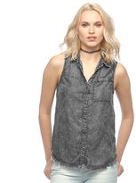 Rock & Republic Women's Acid-Wash Chambray Shirt