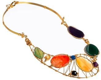 Aeravida Handmade Festive Multicolor Agate Necklace