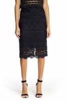 KENDALL + KYLIE Women's Crochet Midi Skirt