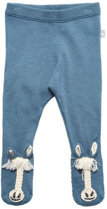 Stella Mccartney Kids Pony Cotton & Wool Tricot Knit Leggings